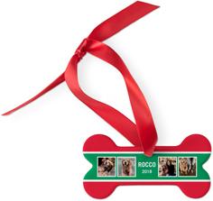 best in show stripe dog ornament