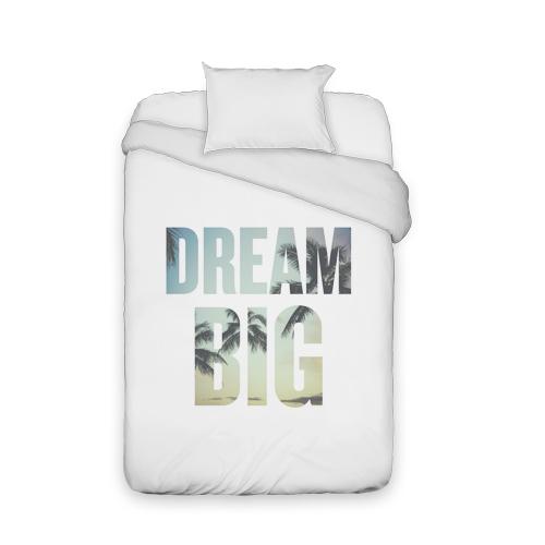 Dream Big Duvet Cover, Duvet, Duvet Cover w/ White Back, Twin, DynamicColor
