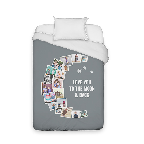 To The Moon Collage Duvet Cover