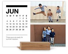 classic black and white easel calendar