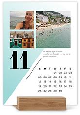 modern months easel calendar