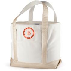 circle frame canvas tote bag