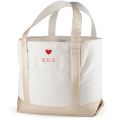 perfect pair heart canvas tote bag