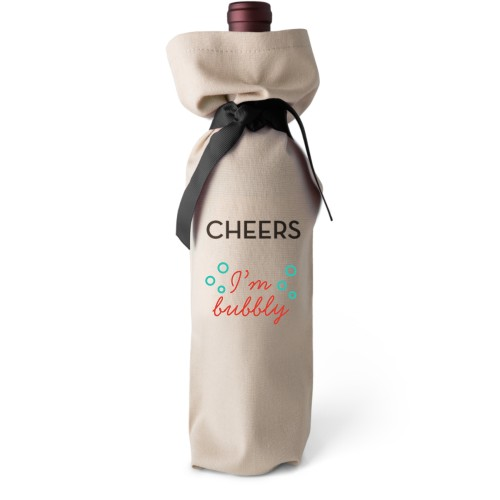 I'm Bubbly Wine Bag, Wine Bag Linen, Add Personalization, Cheers, White