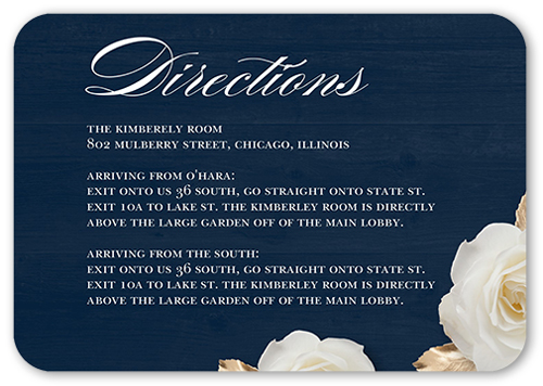 Flowering Fondness Wedding Enclosure Card, Rounded Corners