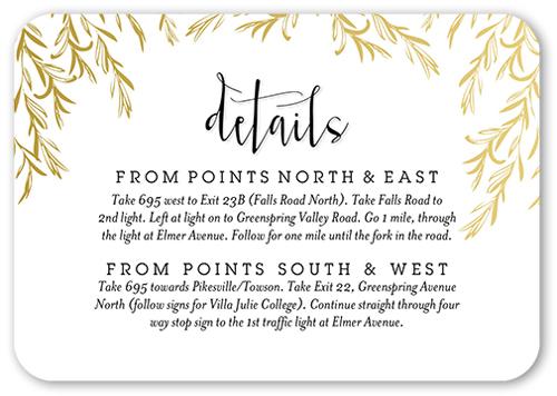 Shining Adoration Wedding Enclosure Card, Rounded Corners