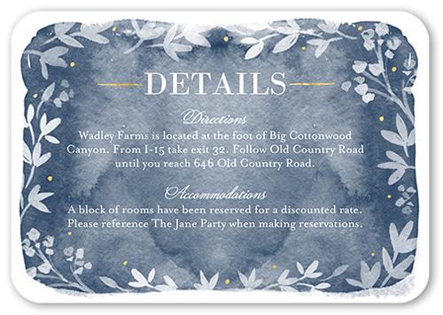Watercolor Wonderment Wedding Enclosure Card, Rounded Corners