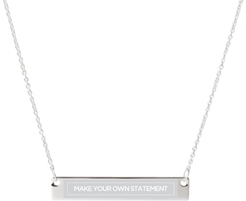Make Your Own Statement Engraved Bar Necklace