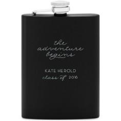the adventure begins flask