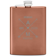 arrows and heart flask
