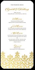 elegantly laced wedding menu