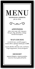 never ending devotion wedding menu