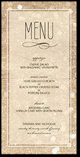 Wedding menu cards shutterfly sparkly lights wedding menu junglespirit Choice Image