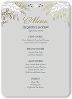 Floral wedding menu cards shutterfly wedding menu from 119 083 affectionate floral junglespirit Gallery