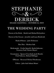 wedding programs shutterfly
