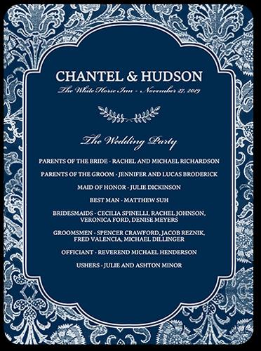 damask romance 6x8 wedding program by yours truly shutterfly On shutterfly wedding programs