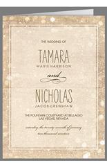 sparkly lights wedding program