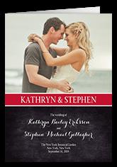 cherished calendar wedding program