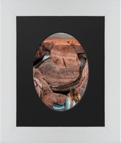 Centered Oval Deluxe Mat Framed Print