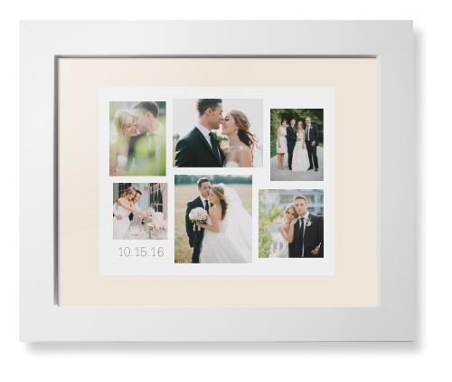 Gallery Collage of Six Framed Print, White, Contemporary, Cream, Cream, Single piece, 8 x 10 ...