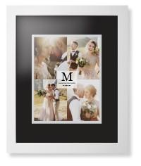classic initial framed print