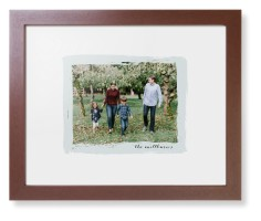 brush stroke border framed print