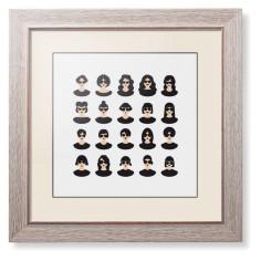 modern girls framed print