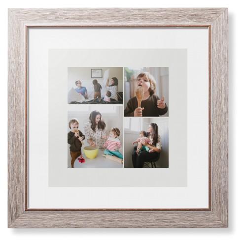 Overlap Photo Gallery of Four Framed Print