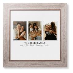 classic trio framed print