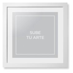 sube tu arte framed print