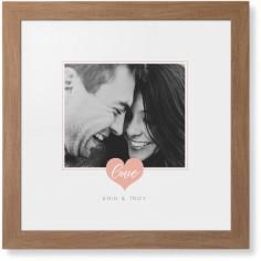 simple heart frame framed print