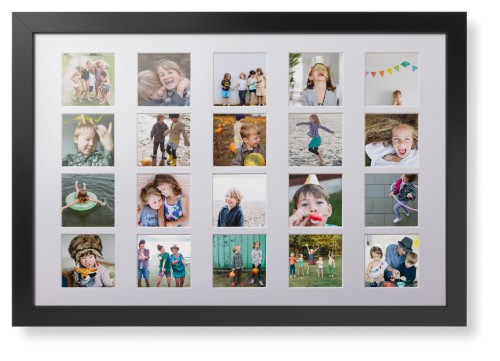 Prints By Deluxe: Even Squares Twenty Up Deluxe Mat Framed Print