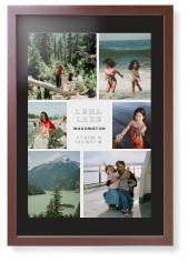 modern adventure gallery of six framed print