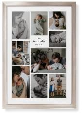 modern family collage portrait framed print