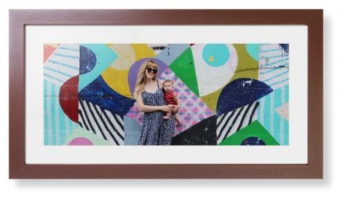 Gallery Panoramic Framed Print, Brown, Contemporary, Cream, White, Single piece, 10 x 24 ...