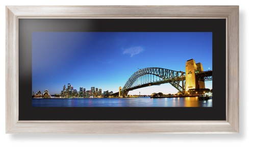 sydney harbour bridge print in modern rustic frame