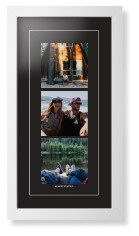 panoramic gallery of three portrait framed print