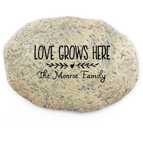 Love Grows Garden Stone