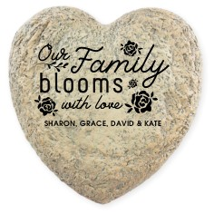 floral accent - Personalized Garden Stones