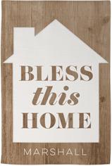blessed home garden flag