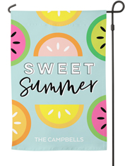 sweet summer fruits garden flag