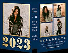 radiant bold grad graduation invitation