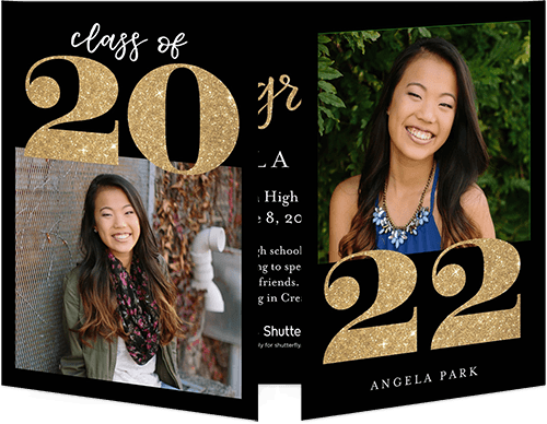trifold graduation announcements shutterfly