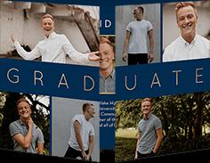 big bold grad graduation announcement
