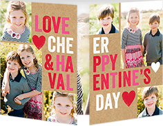 bold love and cheer valentines card