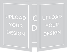 upload your own gate fold design christmas card