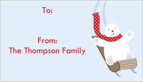 Beary Merry Gift Tag
