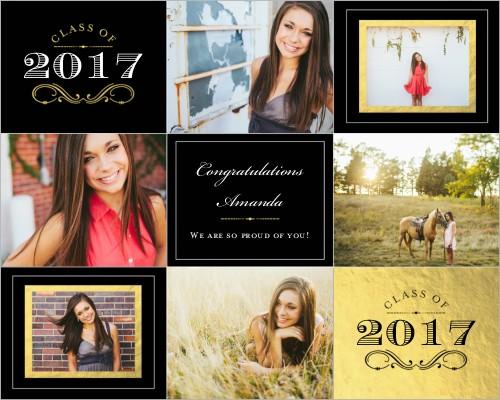 Graduation Flourish And Frames Gift Wrap