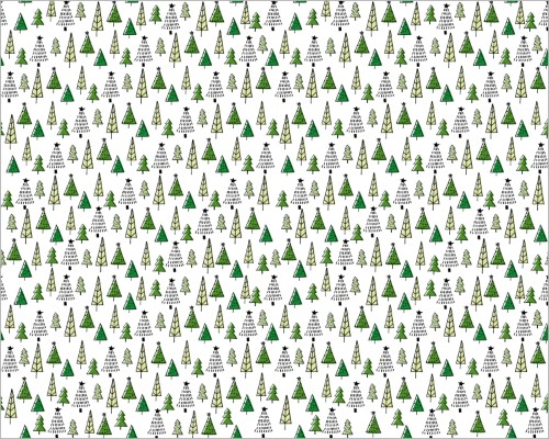 Christmas Trees Gift Wrap