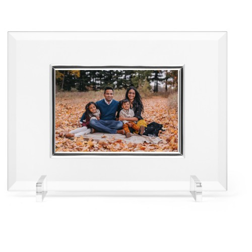 Make Your Own Statement Glass Frame, 11x8 Engraved Glass Frame, - No photo insert, White